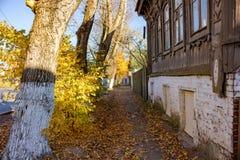Borovsk, Rússia - em outubro de 2018: Ruas com arquitetura tradicional imagens de stock