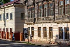 Borovsk Rosja, Czerwiec, - 2018: Miasto rezydencja ziemska Shokin na Lenin ulicie w Borovsk obrazy stock