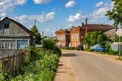 Borovsk, Rusland - Juni 2018: Mening van Straten van de hostory stad van Borovsk stock afbeelding