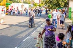 Borovsk, Russie - 18 août 2018 : Festivités, les gens sur la rue images stock