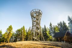 Free Borowa Tower Near Walbrzych Royalty Free Stock Image - 119951256