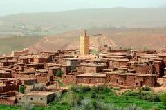Borowinowa wioska w Maroko Fotografia Royalty Free