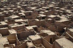 Borowinowi domy, Al Ul, Arabia Saudyjska obraz royalty free