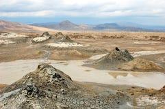 Borowinowi volcanoes Azerbejdżan fotografia royalty free