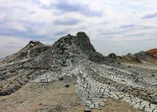 Borowinowy aktywny wulkan obraz stock