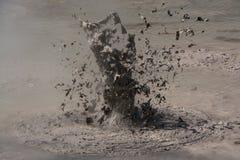 Borowinowy wulkan fotografia royalty free