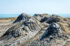 Borowinowy wulkan, Gobustan, Azerbejdżan Zdjęcie Stock