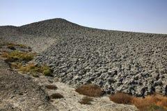 Borowinowy wulkan w Lokbatan blisko Baku Azerbejdżan Fotografia Stock