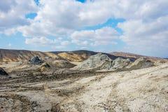 Borowinowy wulkanu krater, Gobustan, Azerbejdżan Zdjęcia Royalty Free