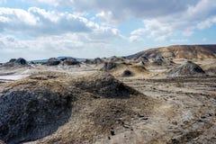 Borowinowy wulkanu krater, Gobustan, Azerbejdżan Obrazy Royalty Free