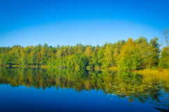 Borowo sjö i authum Arkivbild