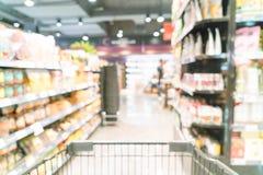 Borrão abstrato no supermercado Fotos de Stock Royalty Free
