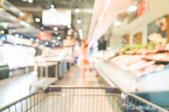Borrão abstrato no supermercado Fotos de Stock