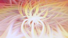 Borrão amarelo do teste padrão dos raios do fundo fluir ilustração royalty free