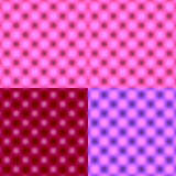 Borrão circular verificado da grade - máscara tonal cor-de-rosa Foto de Stock