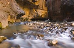 Borrão da água dos estreitos Foto de Stock