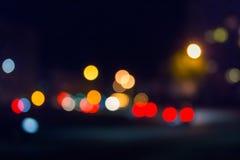 Borrão das luzes de rua Imagens de Stock Royalty Free