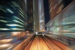 Borrão de movimento abstrato do trem Imagem de Stock Royalty Free