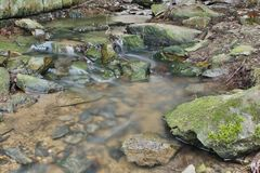 Borrão de movimento da água Imagem de Stock