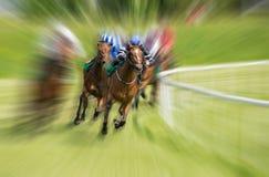 Borrão de movimento da corrida de cavalos foto de stock