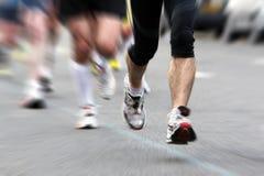 Borrão de movimento da raça de estrada Fotografia de Stock Royalty Free