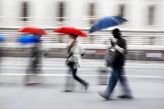 Borrão de movimento do dia chuvoso imagem de stock royalty free