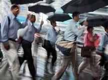 Borrão de movimento do dia chuvoso Foto de Stock Royalty Free