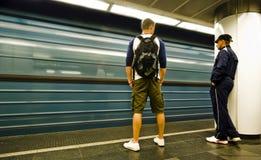 Borrão de movimento do metro Foto de Stock Royalty Free