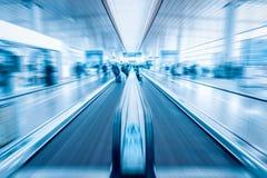 Borrão de movimento moderno do transporte do passageiro fotos de stock