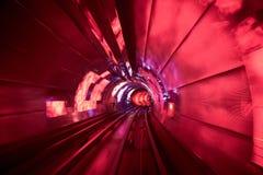 Borrão de movimento railway do fundo do túnel movente Imagens de Stock