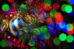 Borrão do ouropel do Natal Fotografia de Stock