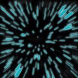 Borrão do zoom de Hyperspace Fotos de Stock