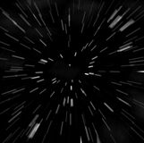 Borrão do zoom de Hyperspace ilustração stock