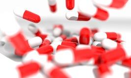 Borrão dos comprimidos do fundo, 3d Imagem de Stock Royalty Free