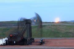 Borrão dos jaques da bomba do quadrilátero com o alargamento no fundo Foto de Stock Royalty Free