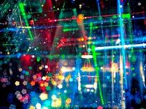 Borrão festivo abstrato - imagem digitalmente gerada imagens de stock