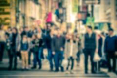 Borrão pedestre de NYC fotografia de stock