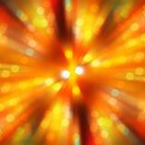 Borrão radial do ouro do projeto da luz do ponto do bokeh imagens de stock