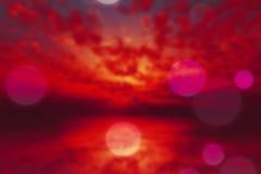 Borrão roxo dramático do por do sol ilustração stock