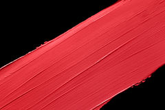 Borrão vermelho do batom Foto de Stock