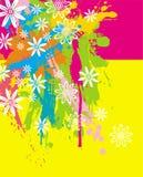 Borrões & flores da cor ilustração stock