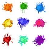 Borrões coloridos ilustração stock