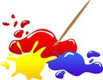 Borrões coloridos Foto de Stock