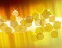 Borrões dourados ilustração do vetor