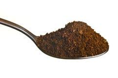 Borra de café em uma colher Foto de Stock Royalty Free
