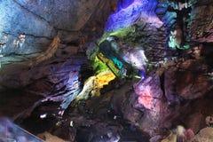 Borra grottor, Araku dal, Andhra Pradesh, Indien arkivfoto