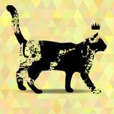 Borra a silhueta de um gato Imagem de Stock