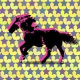 Borra a silhueta do cão Fotos de Stock Royalty Free