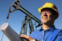 Borra teknikern Oil & gaskarriärer som ett begrepp Fotografering för Bildbyråer