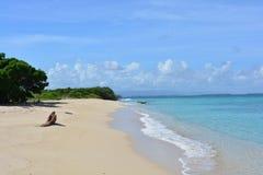 Borracho ö på den Morrocoy nationalparken, karibiskt hav, Venezuela royaltyfria foton